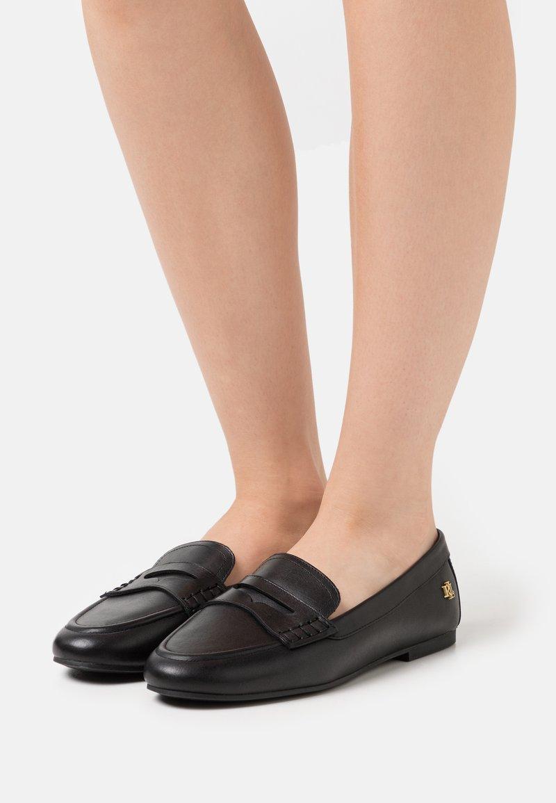 Lauren Ralph Lauren - ADISON - Nazouvací boty - black