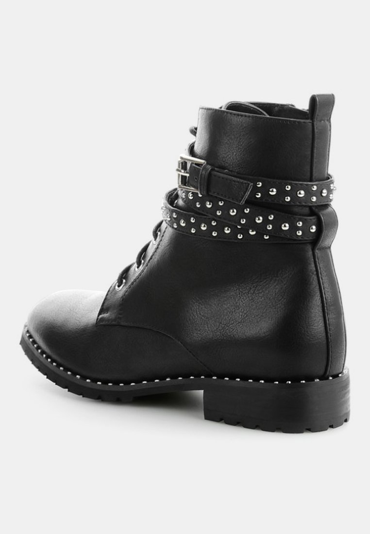 PRIMA MODA MARORE - Bottines à lacets - black - Bottines Femme Qualité