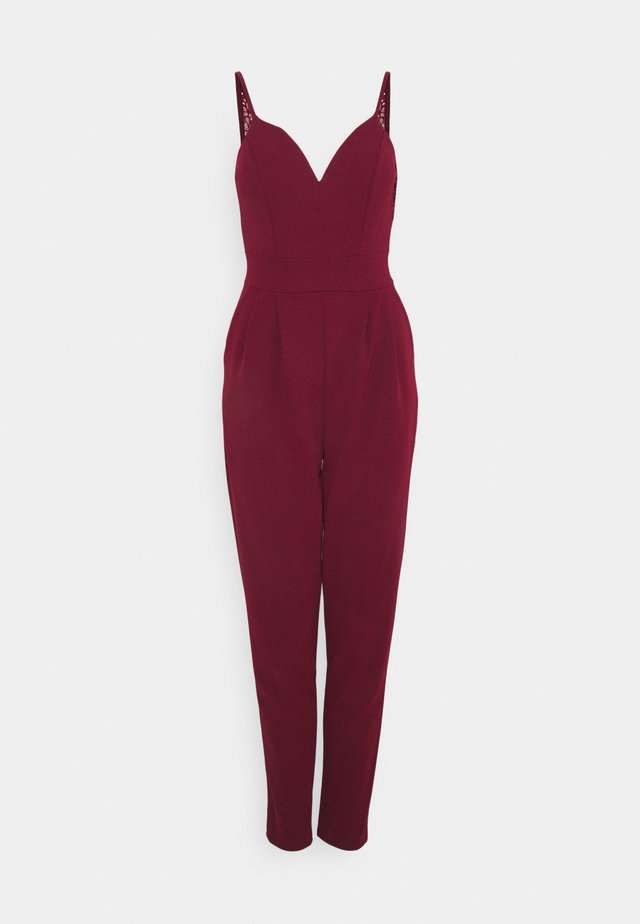 DEMI STRAPPY - Overall / Jumpsuit /Buksedragter - wine