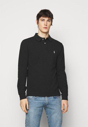 Polo shirt - black marl heather