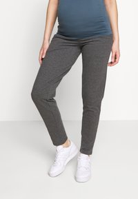 MAMALICIOUS - MLNEWKARLA PANTS - Tracksuit bottoms - medium grey melange - 0