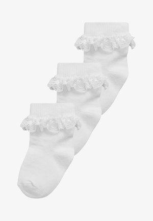 THREE PACK  - Strumpor - white