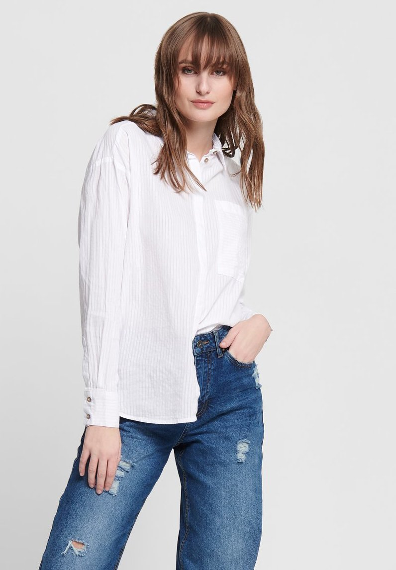 ONLY - Button-down blouse - white