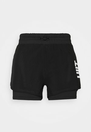HIIT OVERLAY SHORTS 2IN1 - Sports shorts - black