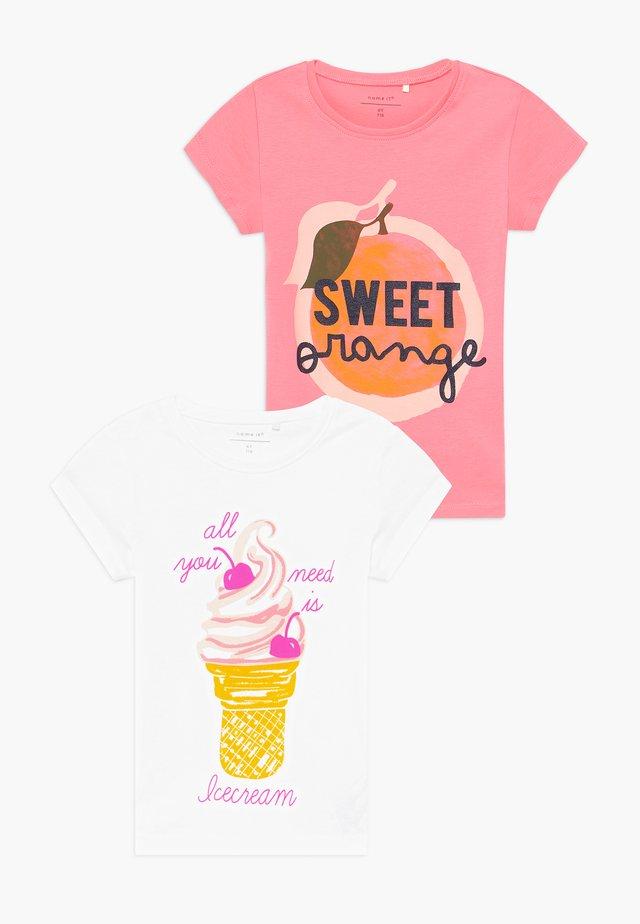 NKFVEEN 2 PACK - Camiseta estampada - geranium pink