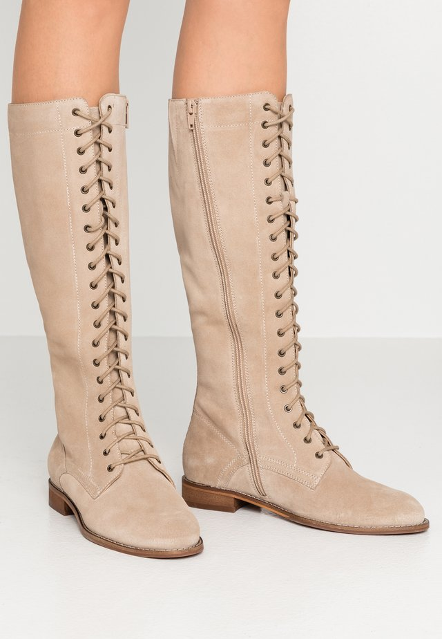 Lace-up boots - taupe