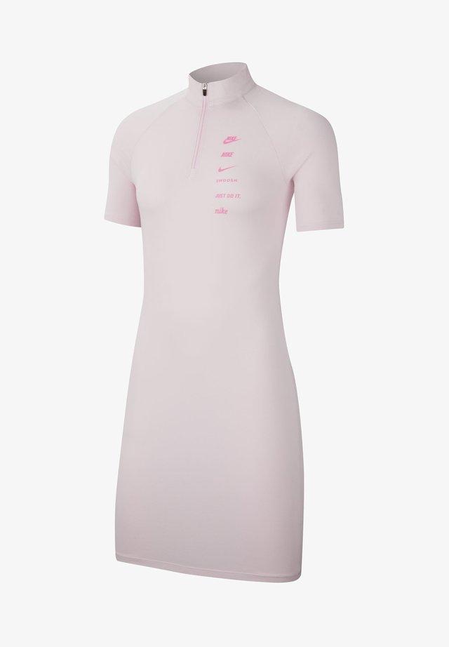DRESS - Jerseykleid - pink foam/pink glow