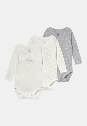 3 PACK UNISEX - Body - white/grey