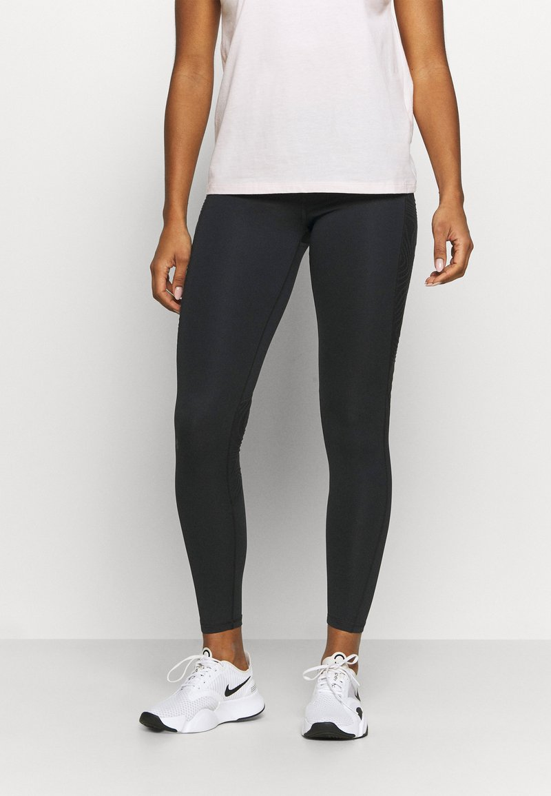 Under Armour - RUSH LEGGING - Medias - black