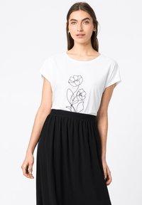 HALLHUBER - Print T-shirt - weiß - 0