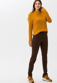BRAX - STYLE CAROLA - Straight leg jeans - brown - 1