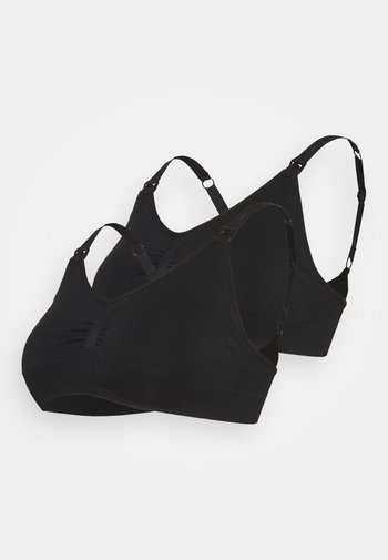 SEAMLESS NURSING BRA 2 PACK - T-skjorte-BH - black