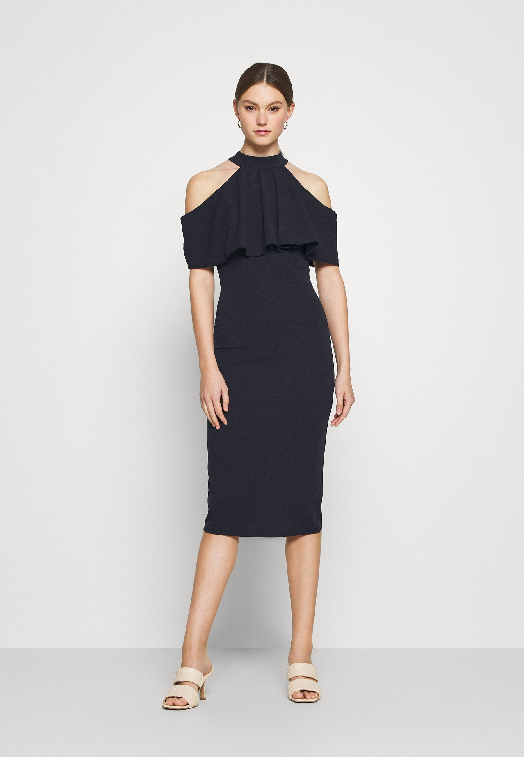 Women AUDREY HALTER NECK MIDI DRESS - Cocktail dress / Party dress