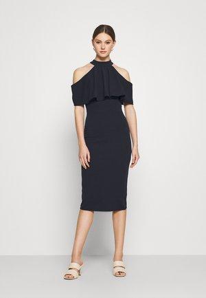 AUDREY HALTER NECK MIDI DRESS - Cocktail dress / Party dress - navy blue