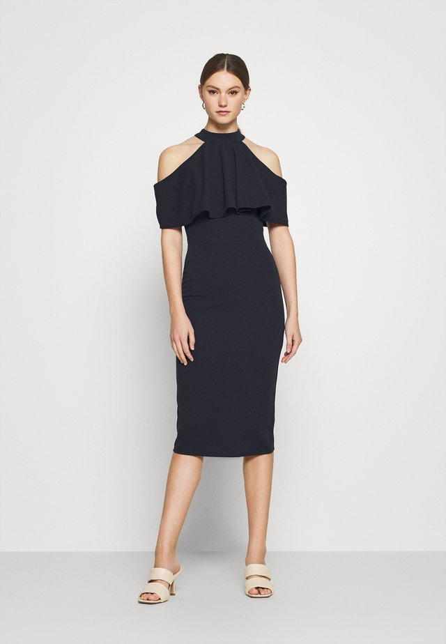 AUDREY HALTER NECK MIDI DRESS - Cocktail dress / Party dress - navy blue