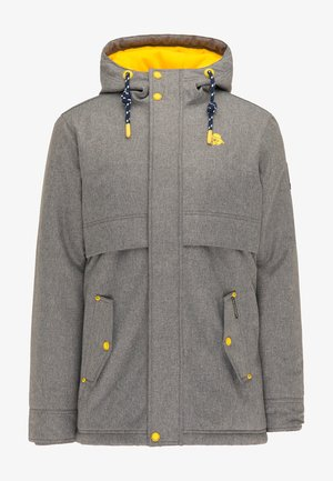 Winter coat - dunkelgrau melange
