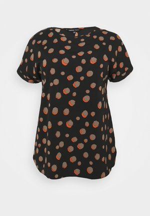 PRINTED LONGLINE BOXY  - Top - black