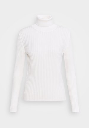 LONGSLEEVE TURTLE NECK STRUCTURE - Pullover - off white