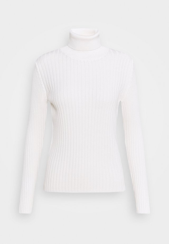 LONGSLEEVE TURTLE NECK STRUCTURE - Neule - off white