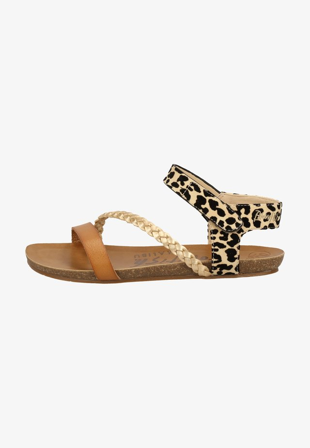 Sandalen - desert sand/pearl gold/natural leopard