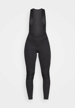 BIKE BIB ELASTIC - Leggings - black