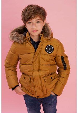 PARKA WITH FUR  - Winter jacket - mustard