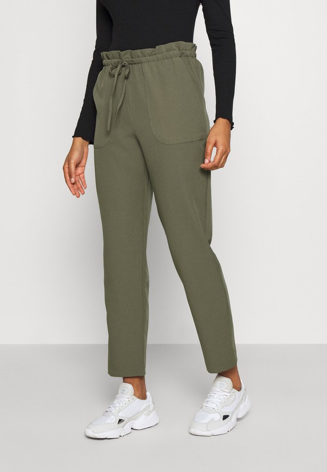 VMTHERESSA PAPERBAG PANT - Trousers - kalamata
