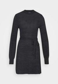 BELTED COZY DRESS - Jumper dress - black