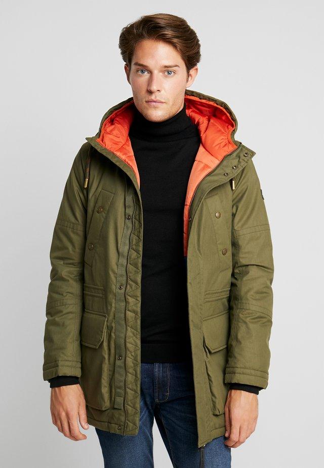 Winter coat - olive drap green