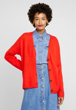 LONG SLEEVED - Strickjacke - red