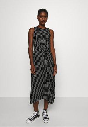 KNOT WAIST - Jersey dress - black
