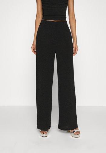STRAIGHT SPARKLE PANTS - Pantaloni - black