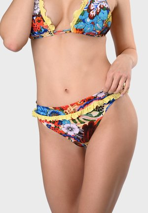 PANAK - Bikini bottoms - yellow, multi-colored