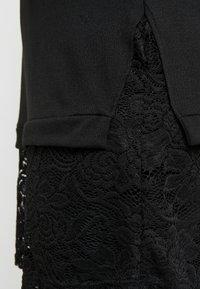 Zizzi - LUCCA LACE  - Stickad tröja - black - 5