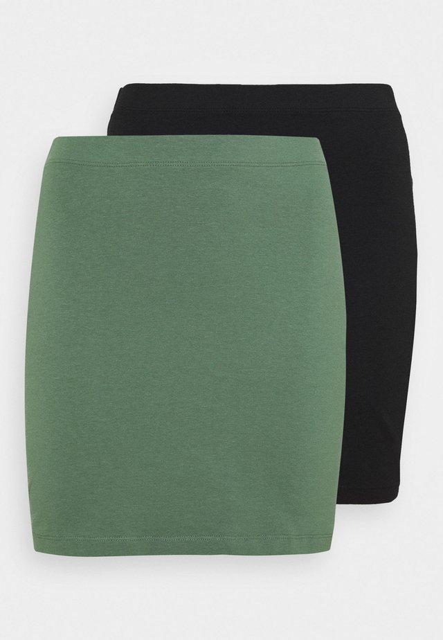 2 PACK - Minirok - khaki/black