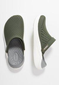 Crocs - LITERIDE UNISEX - Clogs - army green/white - 1