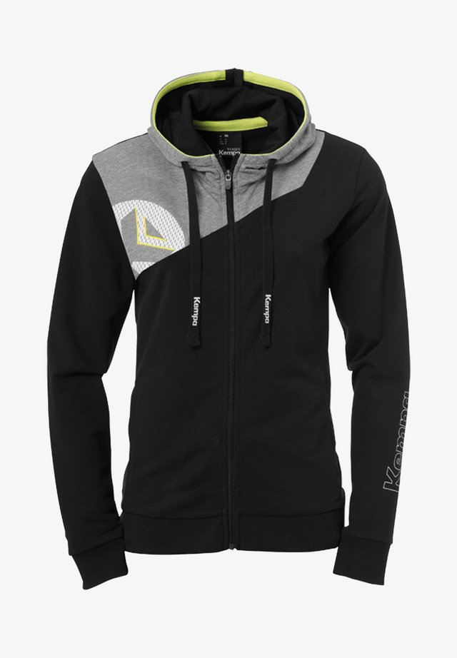 Zip-up hoodie - schwarzgrau