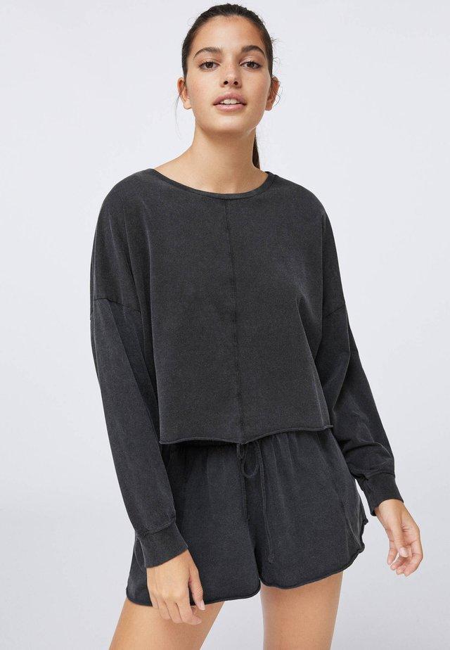 CROPPED  - Long sleeved top - dark grey