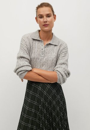 PLEATED - A-line skirt - grün