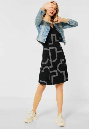 A-LINIE MIT PRINT - Day dress - schwarz