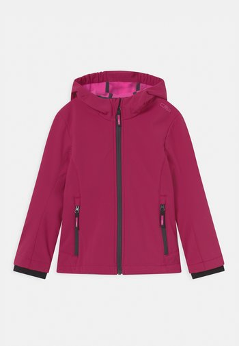 FIX HOOD - Soft shell jacket - sangria
