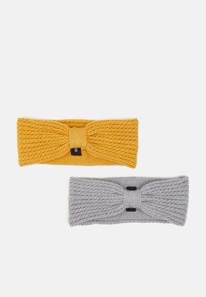 Nauszniki - mustard yellow/grey