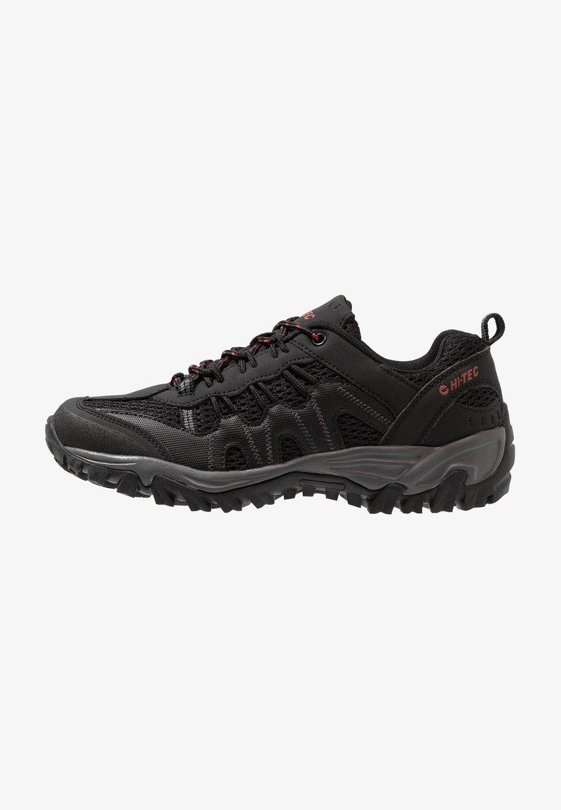 Hi-Tec - JAGUAR - Hiking shoes - black/picante