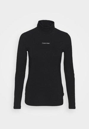 MINI CALVIN TURTLENECK TOP - Pitkähihainen paita - black