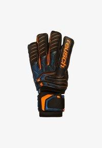 Reusch - ATTRAKT G3 FUSION ORTHO-TEC GOALIATOR - Goalkeeping gloves - black / shocking orange / deep blue - 1