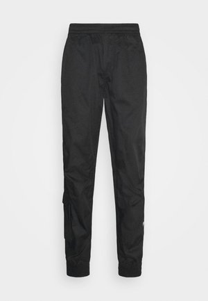 CUFFED TRAINER - Cargo trousers - dark black