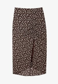 Stradivarius - Pencil skirt - brown - 4