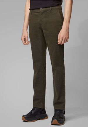REGULAR FIT - Trousers - khaki