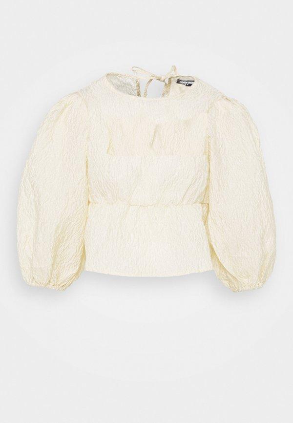 Fashion Union HYDIE - Bluzka - pale yellow/żÓłty XQNG
