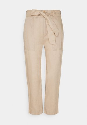 SOFT DRAPEY PANT - Trousers - birch tan